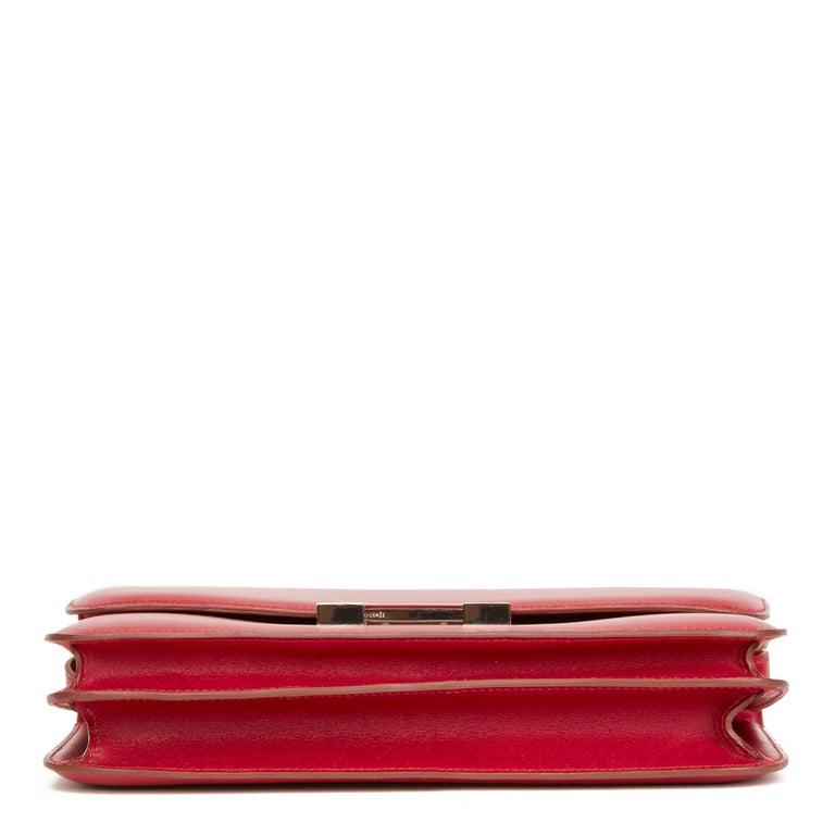 Women's 2010  Hermès Rubis Tadelakt Leather Constance Elan