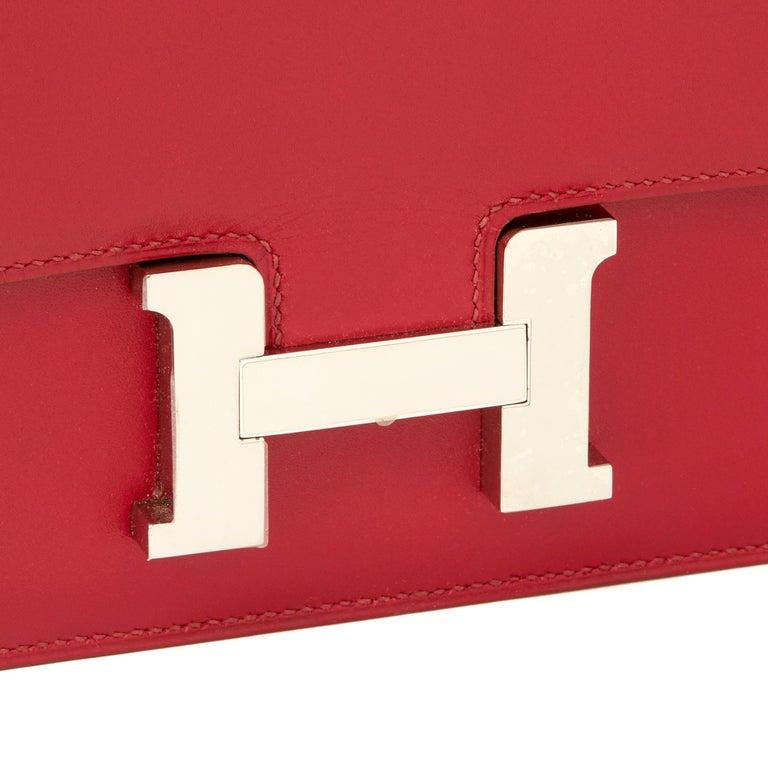 2010  Hermès Rubis Tadelakt Leather Constance Elan 1