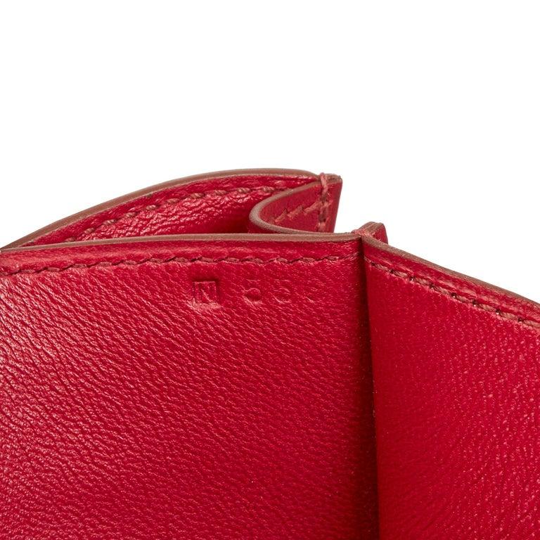 2010  Hermès Rubis Tadelakt Leather Constance Elan 4