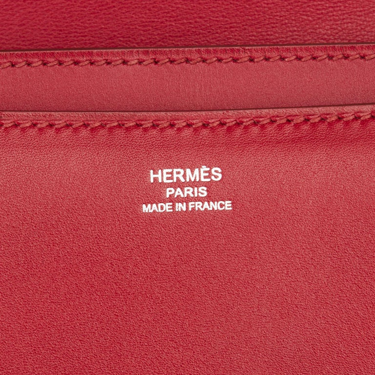 2010 Hermès Rubis Tadelakt Leather Constance Elan  For Sale 4