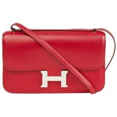 2010 Hermès Rubis Tadelakt Leather Constance Elan