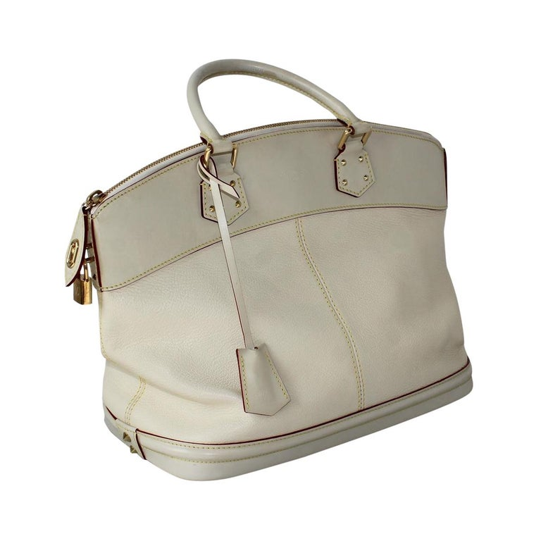 Gray 2010 Louis Vuitton White Handbag For Sale