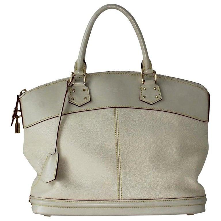 2010 Louis Vuitton White Handbag For Sale
