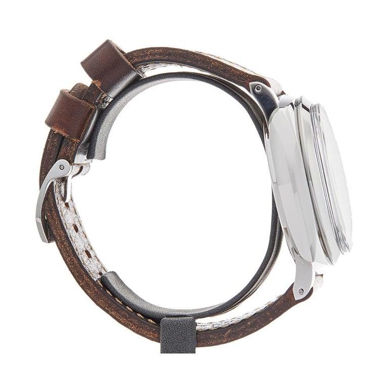 2010 Panerai Radiomir Marina Militare Stainless Steel PAM00587 Wristwatch In Excellent Condition For Sale In Bishops Stortford, Hertfordshire