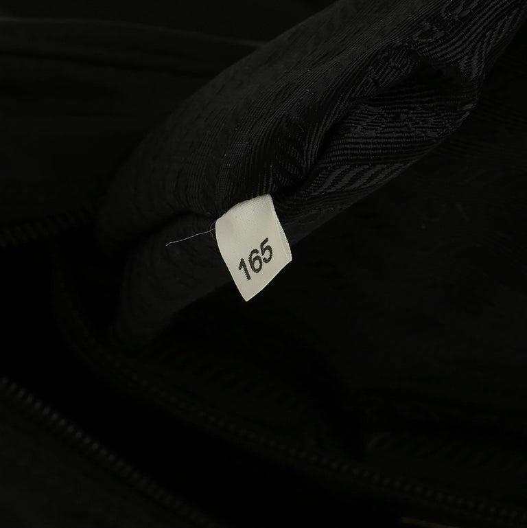 2010 Prada Black Nylon & Calfskin Leather Camera Bag For Sale 1