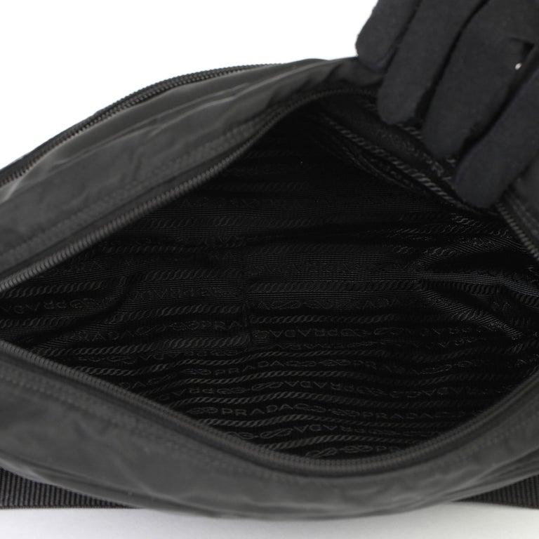 2010 Prada Black Nylon & Calfskin Leather Camera Bag For Sale 2