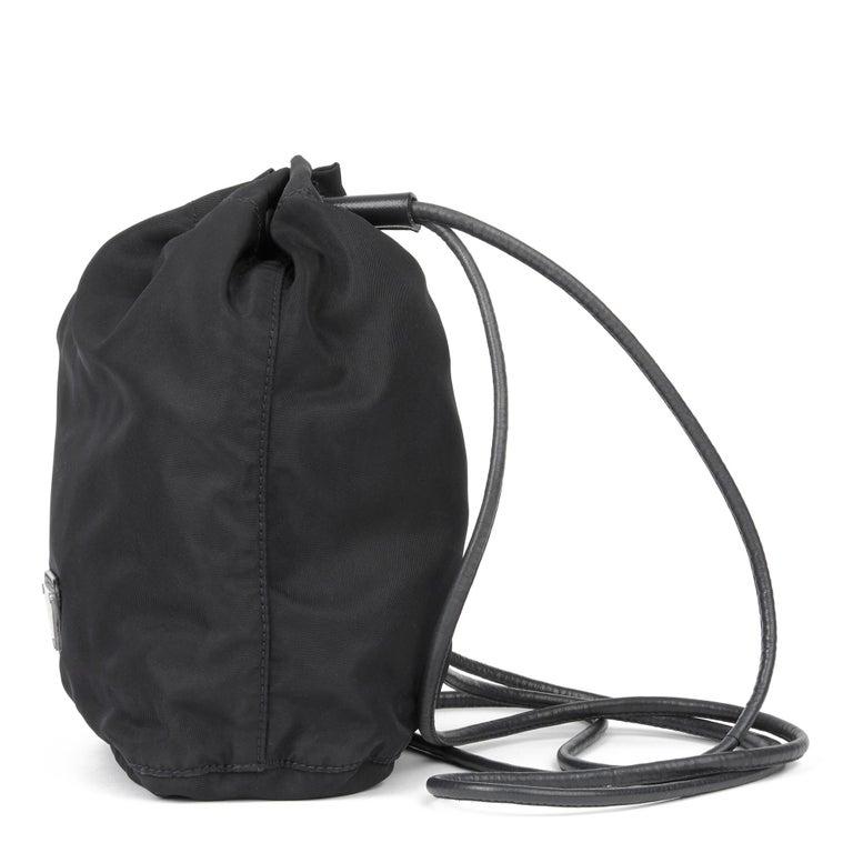 2010 Prada Black Nylon Vintage Mini Backpack In Good Condition In Bishop's Stortford, Hertfordshire