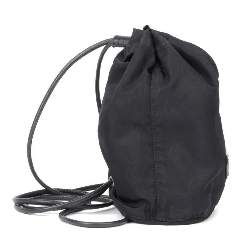 Women's 2010 Prada Black Nylon Vintage Mini Backpack
