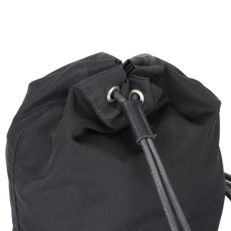 2010 Prada Black Nylon Vintage Mini Backpack 3