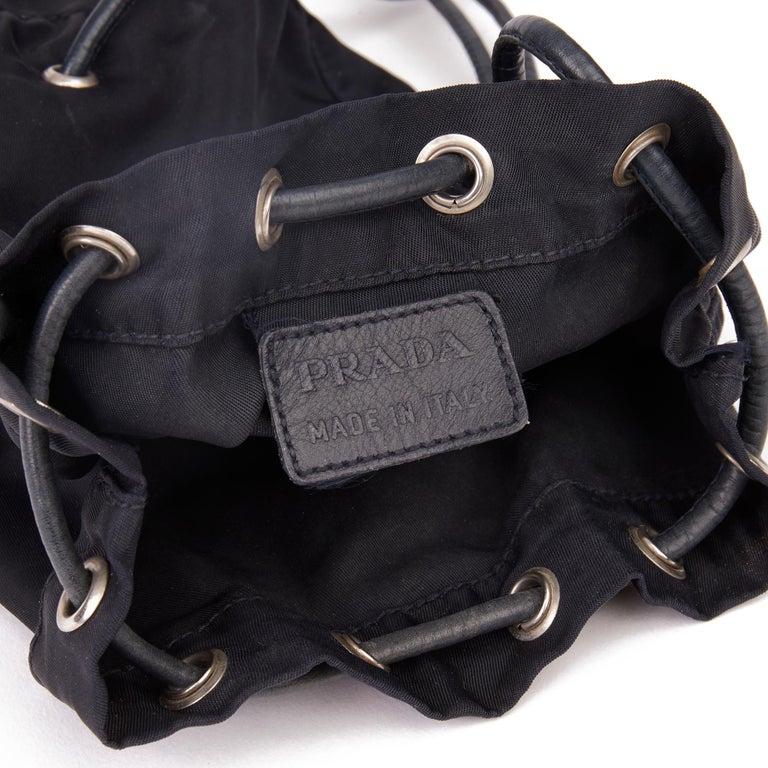 2010 Prada Black Nylon Vintage Mini Backpack 5