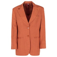 2010s Callaghan Orange Linen Jacket