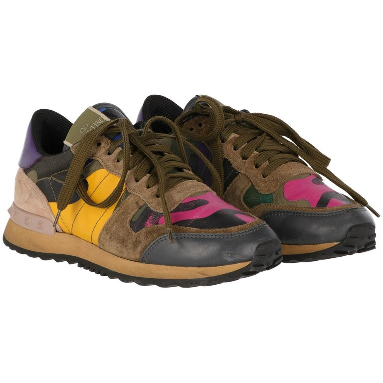 1df509359974 2010s Camouflage Rockrunner Valentino Sneaker For Sale at 1stdibs
