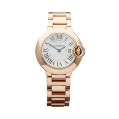 2010s Cartier Ballon Bleu Rose Gold 3007 or W69002Z2 Wristwatch