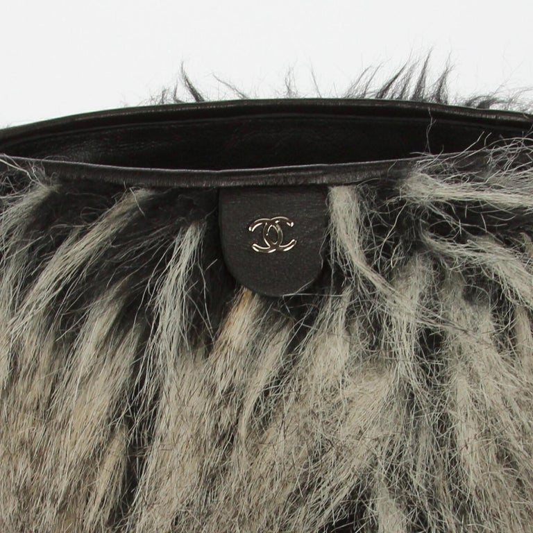 2010s Chanel Faux Fur Boots For Sale 2