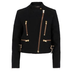 2010s Chloé Black and Gold Jacket
