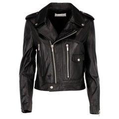 2010s Christian Dior Black Leather Biker Jacket