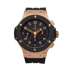 2010s Hublot Big Bang Kazakhstan Special Edition Rose Gold Wristwatch