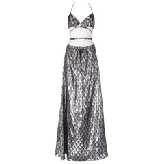 2010s Jeremy Scott Silver Lamé Dress