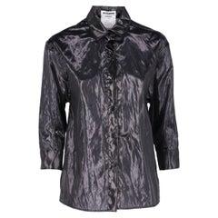 2010s Jil Sander Black Semi-transparent Shirt