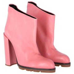 2010s Jil Sander Pink Leather Ankle Boots