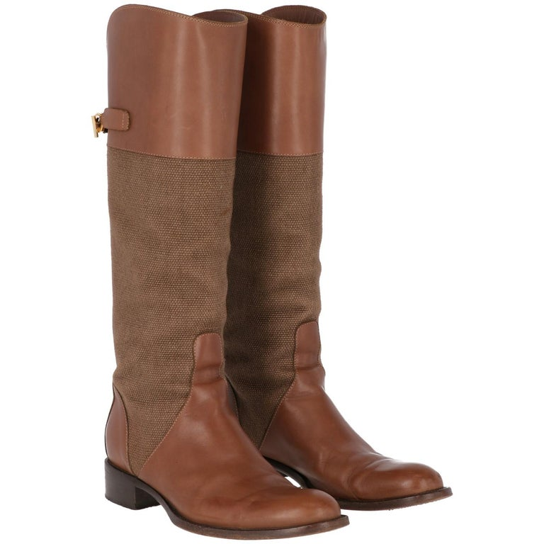2010s Loro Piana Brown High Boots For Sale