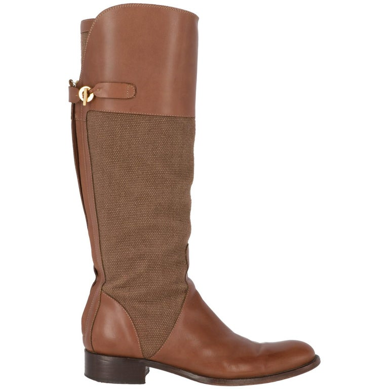 2010s Loro Piana Brown High Boots In Good Condition For Sale In Lugo (RA), IT