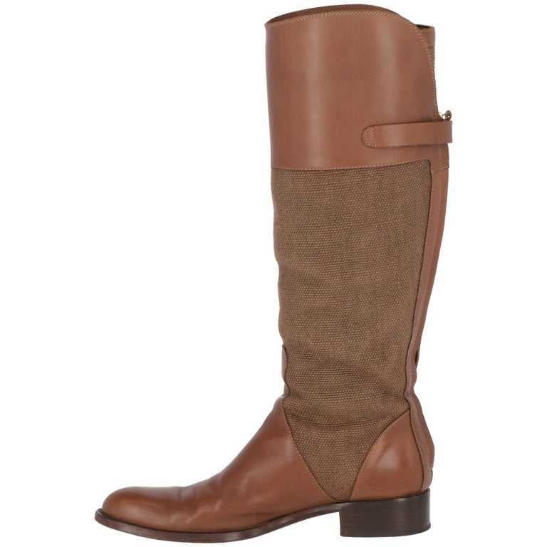 Women's 2010s Loro Piana Brown High Boots For Sale