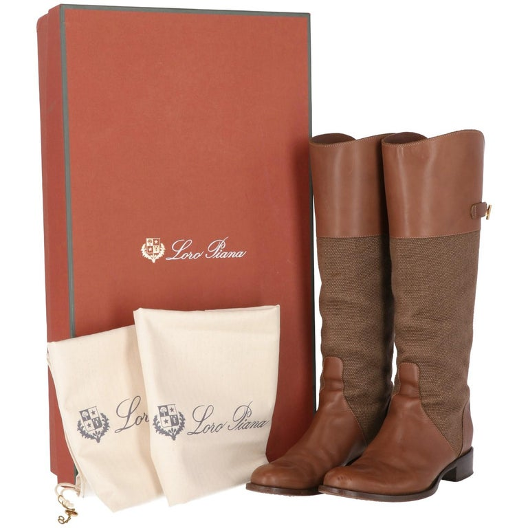 2010s Loro Piana Brown High Boots For Sale 2