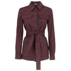 2010s Miu Miu Brown Belted Jacket