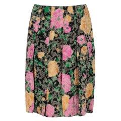 2010s Miu Miu Floral Midi Skirt
