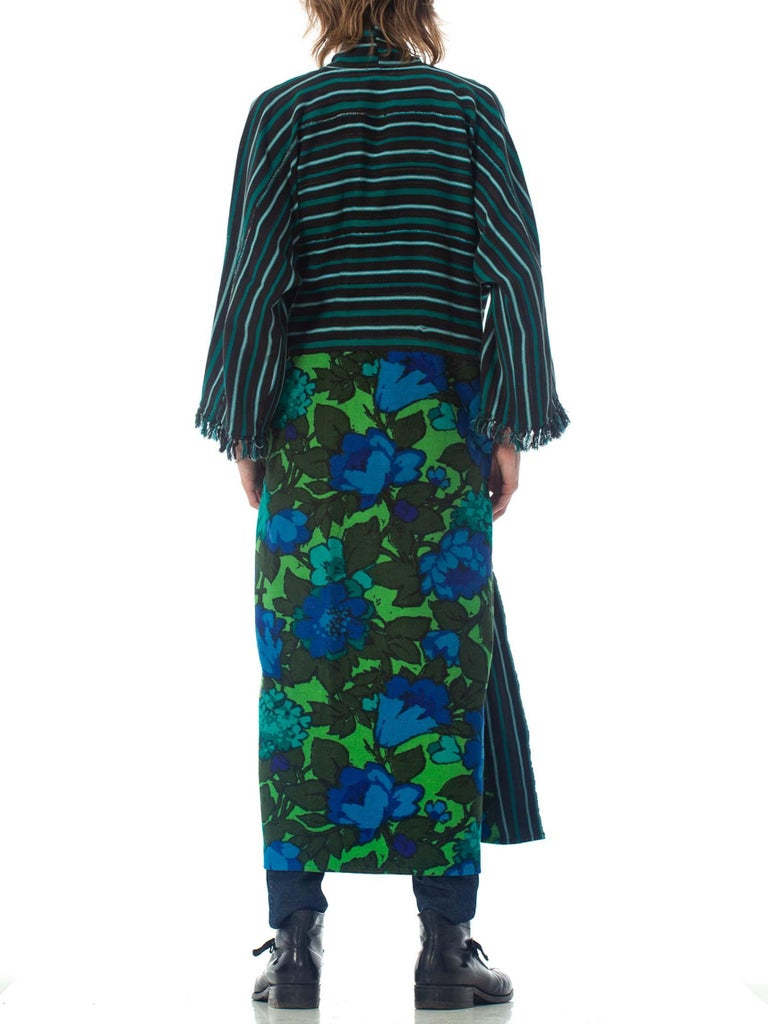 2010S Morphew Collection Cotton Duster Coat Made From African Indigo & 1960S Flo For Sale 4