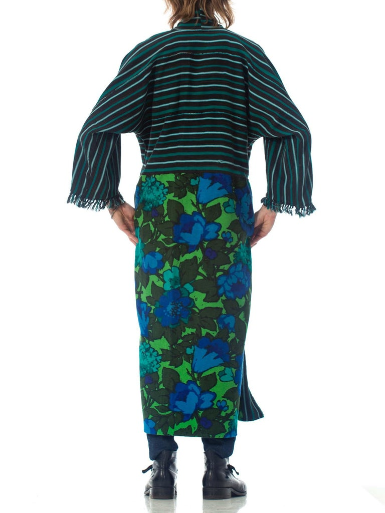 2010S Morphew Collection Cotton Duster Coat Made From African Indigo & 1960S Flo For Sale 5