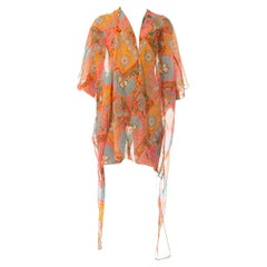 2010S Morphew Collection Psychedelic Polyester Organza Duster