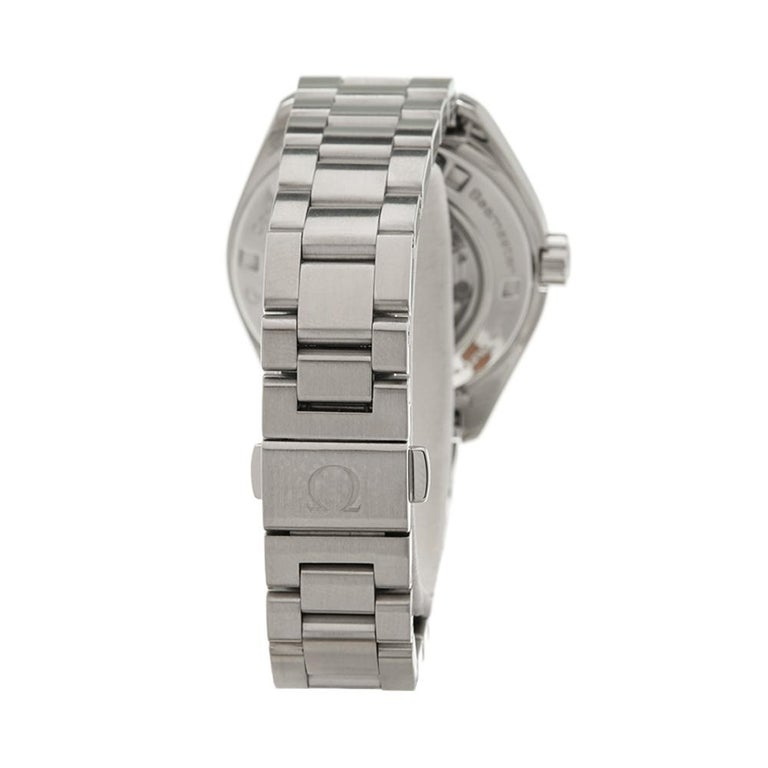 Women's 2010's Omega Seamaster Stainless Steel 231.10.34.20.55.001 Wristwatch For Sale