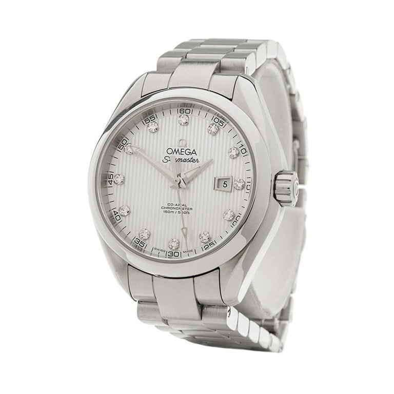 2010's Omega Seamaster Stainless Steel 231.10.34.20.55.001 Wristwatch For Sale 1