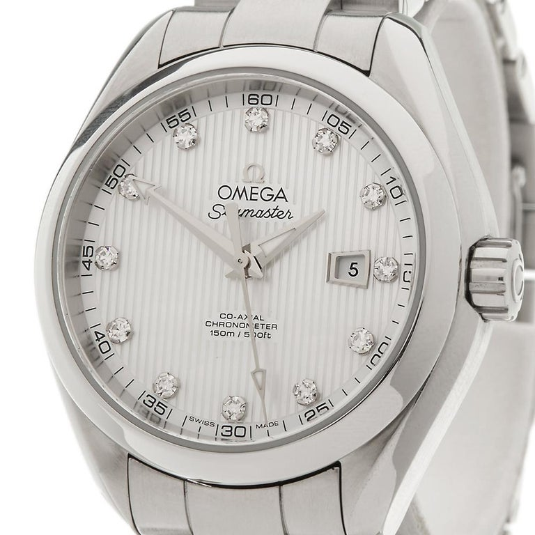 2010's Omega Seamaster Stainless Steel 231.10.34.20.55.001 Wristwatch For Sale 2