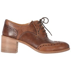 2010s Pollini Leather Lace-up Brogue Shoes