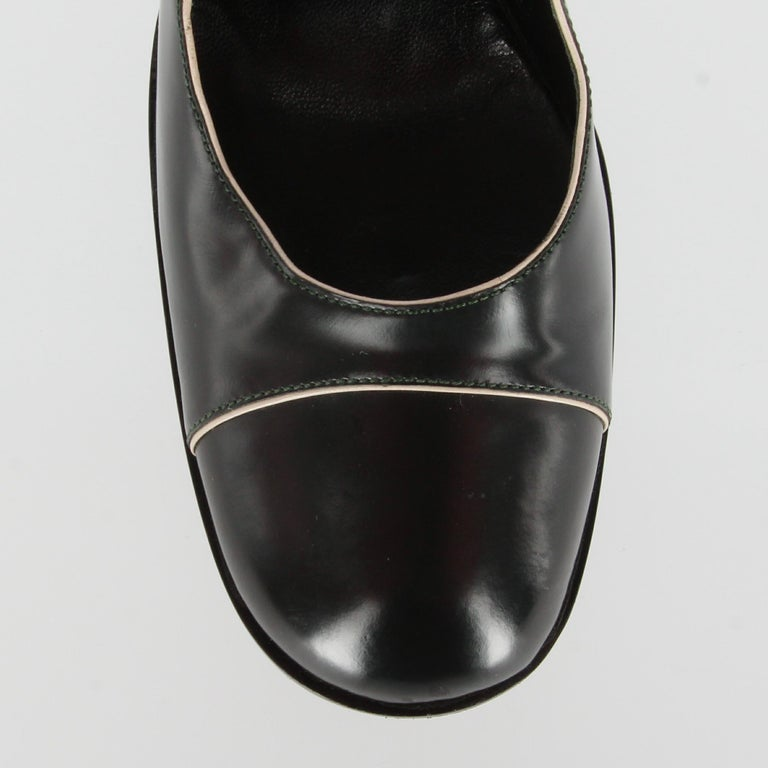 2010s Prada Black Leather Pumps For Sale 3