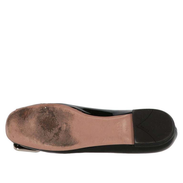 2010s Prada Black Patent Leather Ballet Flats For Sale 3