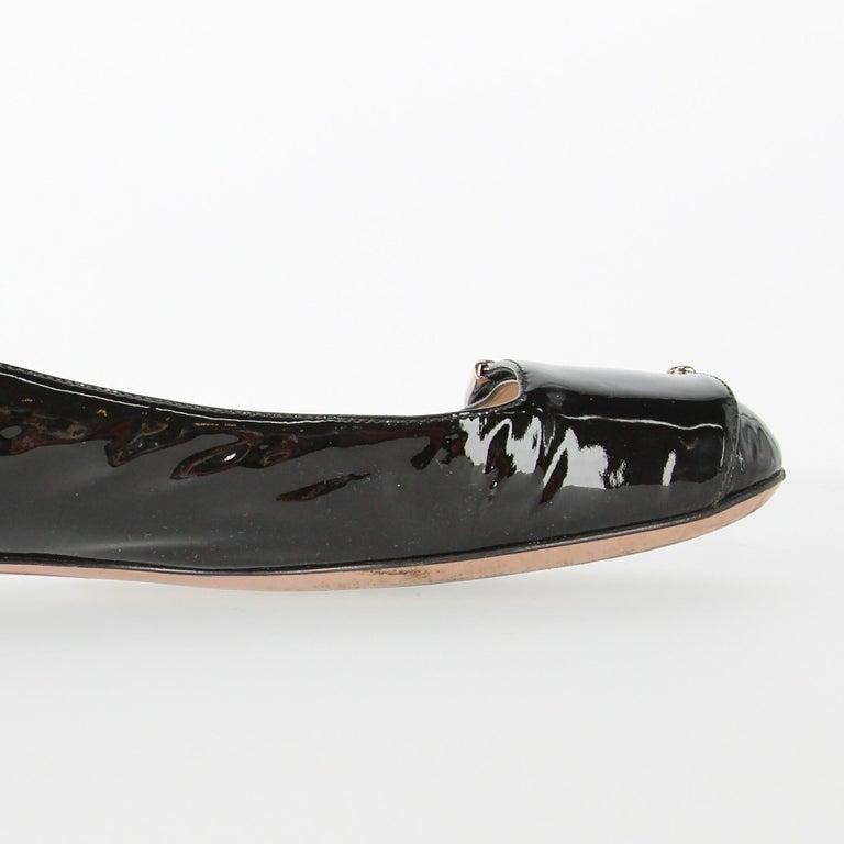2010s Prada Black Patent Leather Ballet Flats For Sale 5
