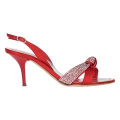 2010s René Caovilla Red Heeled Sandals