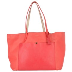 2010s Smythson Red Crossgrain Leather Tote Bag