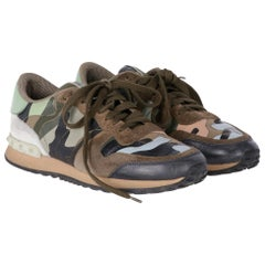 2010s Valentino Camouflage Rockrunner Sneakers