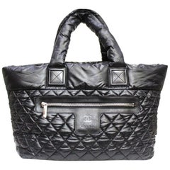 2011 Chanel Black Nylon Coco Cocoon Shoulder Bag