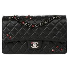2011 Chanel Black Quilted Lambskin Lady Bug Medium Classic Single Flap Bag