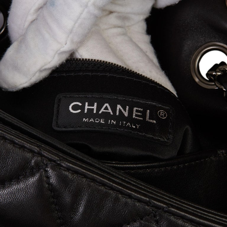 2011 Chanel Black Quilted Lambskin Triple Compartment Classic Single Flap Bag For Sale 6