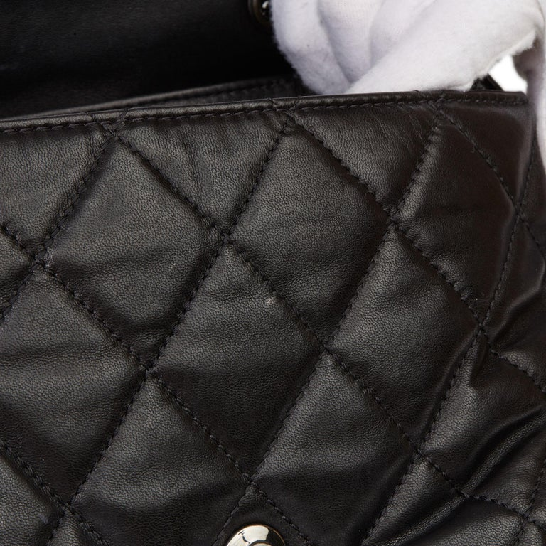 2011 Chanel Black Quilted Lambskin Triple Compartment Classic Single Flap Bag For Sale 8