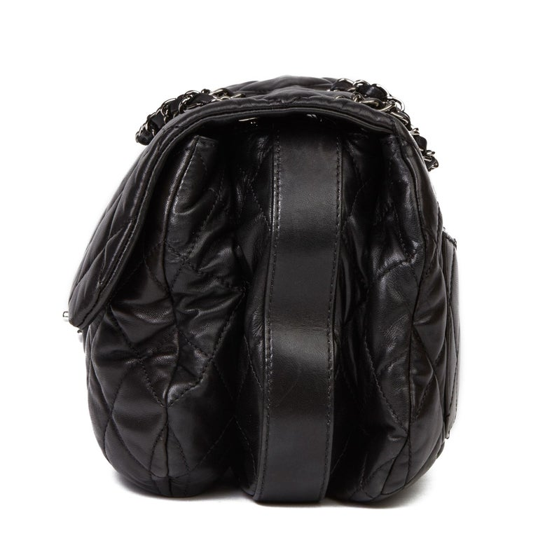 2011 Chanel Black Quilted Lambskin Triple Compartment Classic Single Flap Bag In Excellent Condition For Sale In Bishop's Stortford, Hertfordshire