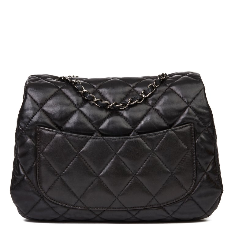 Women's 2011 Chanel Black Quilted Lambskin Triple Compartment Classic Single Flap Bag For Sale