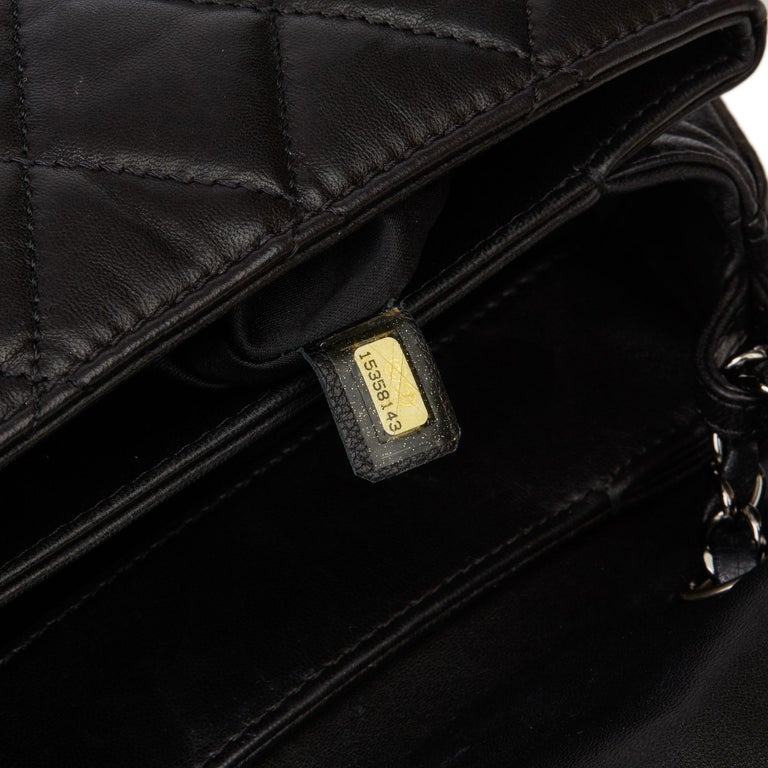 2011 Chanel Black Quilted Lambskin Triple Compartment Classic Single Flap Bag For Sale 5